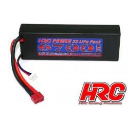HRC02267D Accu - LiPo 2S - 7.4V 6700mAh 50C - RC Car - HRC 6700 - Prise Hard Case - Ultra T