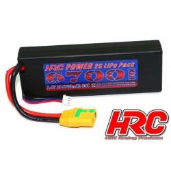 HRC02267X Accu - LiPo 2S - 7.4V 6700mAh 50C - RC Car - HRC 6700 - Prise Hard Case - XT90
