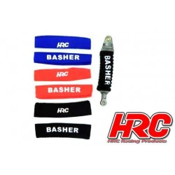 HRC28051RE Option Part - 1/10 Off Road - 80mm - Shock Socks M - Red (1pair)