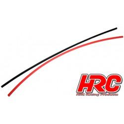 HRC5111 Gaine Thermorétractable - 2mm - rouge et noir (250mm chacun)