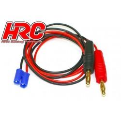 HRC9107 Câble de charge – doré - Prise Banane EC2