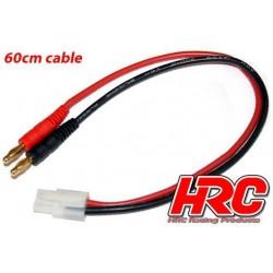 HRC9111 Câble de charge – doré - Prise Banane Tamiya