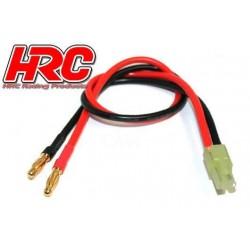 HRC9112 Câble de charge – doré - Prise Banane Mini Tamiya
