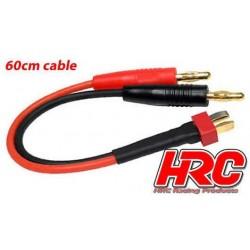 HRC9114 Câble de charge – doré - Prise Banane Ultra T