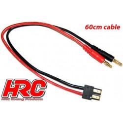 HRC9115 Câble de charge – doré - Prise Banane TRX
