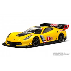 PL1546-40 Carrosserie - 1/8 Touring - Transparente - Chevrolet Corvette C7.R - pour 1/8 GT Long Wheelbase