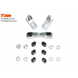 KF14200 Option Part - G4RS II - Aluminium 7075 Rear Lower Hinge Pin Mount Set (w/Washer)