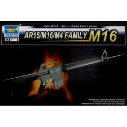 TRU01901 TRUMPETER AR15/M16/M4 Fam. M16 1/3