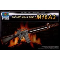 TRU01911 TRUMPETERAR15-M16-M4 Family M16A3 1/3