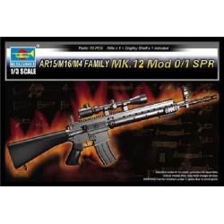 TRU01918 TRUMPETERAR15/M16/M4 Family MK12 Mod0-1 1/3