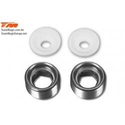 KF1448T Pièce Option - G4 - Ecrous aluminium de pivot de suspension 9mm avec insert Teflon (2)