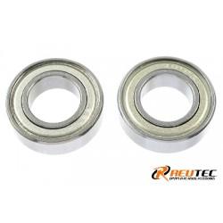 GF-0550-031 Roulement à billes - acier chromée - ABEC 3 - Flasque métal - 10X19X5 - MR6800ZZ - 2 pcs
