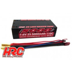 HRC02250SR4 Accu - LiPo HV 2S - 7.6V 5000mAh 110C - Graphene - Shorty - 4mm - 96x46x25