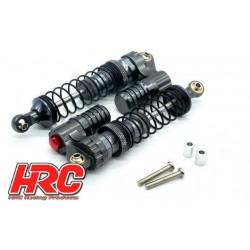 HRC28005BL Piéce Option - 1/10 - Amortisseurs Set - Aluminium - 100mm - Bleu (2 pces)