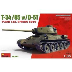 MINIART35293 T-34/85 w/D-5T Plant 112 S.'44 1/35