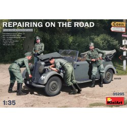 MINIART35295 Reparing on the Road 170V+4fig 1/35