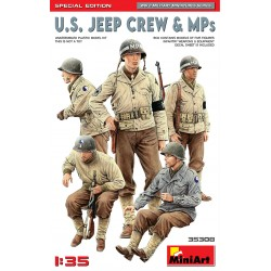 MINIART35308 U.S. Jeep Crew & MPs Sp. Ed. 1/35