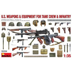 MINIART35334 US Weapons & Equip. Tank & Inf 1/35