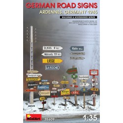 MINIART35609 German Road Signs Ardennes '45 1/35