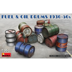MINIART35613 Fuel & Oil Drums 1930-50 1/35