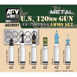 AFAG35051 US M1A1/A2 M256 120mm Ammo Set 1/35
