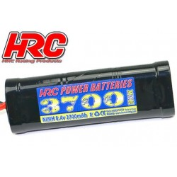 HRC01737D Accu - 7 Eléments - HRC Power Batteries 3700 - NiMH - 8.4V 3700mAh - Hump Stick - Prise Ultra T