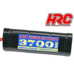 HRC01737T Accu - 7 Eléments - HRC Power Batteries 3700 - NiMH - 8.4V 3700mAh - Hump Stick - Prise TRX