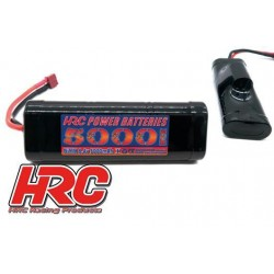 HRC01750D Accu - 7 Eléments - HRC Power Batteries 5000 - NiMH - 8.4V 5000mAh - Hump Stick - Prise Ultra T