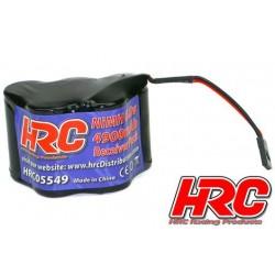 HRC05549H Accu - 5 Eléments - HRC 4900 - Accu récepteur - 6V NiMH 4900mAh - pyramide - prise UNI