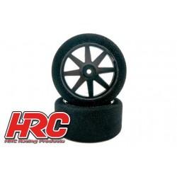 HRC61085 Pneus - 1/10 Touring – montés - 12mm Hex - 26mm - pneu mousse 40° shore (2 pces)