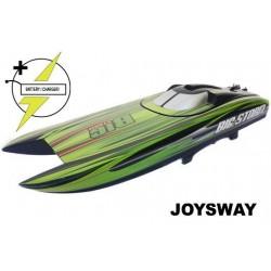 JOY8303 Bateau de course - électrique - RTR - Big Storm - 2.4G - avec 2 packs de 7.4V 4000mAh 35C LiPo & AC Balance Charger
