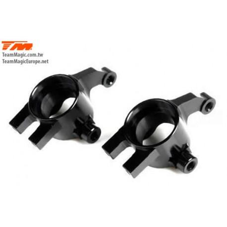KF2156BK Option Part - E4D-MF - Aluminum 7075 - Steering Block - Black (2 pcs)