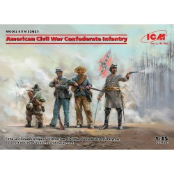 ICM35021 Civil War Confederate Infantry 1/35