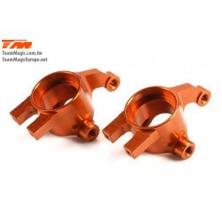 KF2156O Option Part - E4D-MF - Aluminum 7075 - Steering Block - Orange (2 pcs)