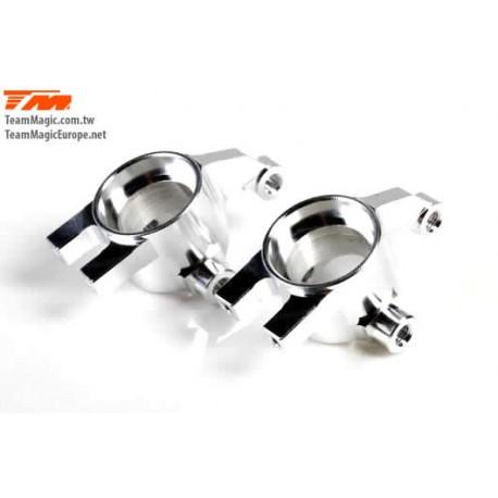 KF2156S Option Part - E4D-MF - Aluminum 7075 - Steering Block - Silver (2 pcs)