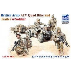 BR35207 Brit.ATV Quad & Trailer w/Fig. 1/35