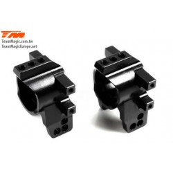 KF2157BK Option Part - E4D-MF - Aluminum 7075 - Rear Hub Carrier - Black (2 pcs)