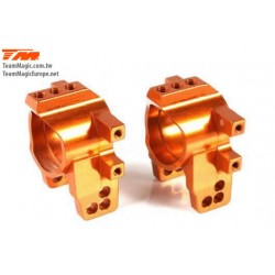 KF2157O Option Part - E4D-MF - Aluminum 7075 - Rear Hub Carrier - Orange (2 pcs)