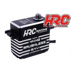 HRC68144HVBL Servo - Digital - High Voltage - 40x37.2x20mm / 53g - 44kg/cm - Brushless - Pignons Métal - Etanche -