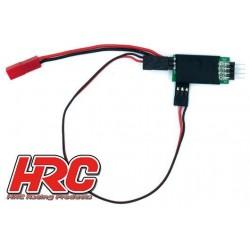 HRC9258A Interrupteur - On/Off - Commandé par radio - BEC / BEC (JR / Récepteur)