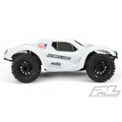 PL3498-15 Carrosserie - 1/10 Short Course - Blanche - Monster Fusion Bash Armor Pré-coupée - pour Slash 2wd & Slash 4x4 with