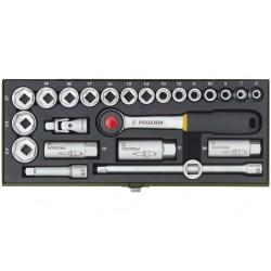 """PRO23110 Coffret douilles compact 3/8"""" de 6 à 24 mm, 24 pièces"""