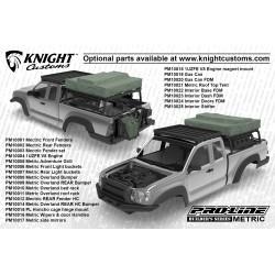 PL3520-00 Carrosserie - 1/10 Crawler - Transparente – Builder's Series: Metric for 12.3 (313mm) Wheelbase Crawlers