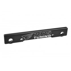 C-00180-683 Team Corally - Suspension Arm Mount - FF - Swiss Made 7075 T6 - 3mm - Hard Anodised - Black - Made In Italy
