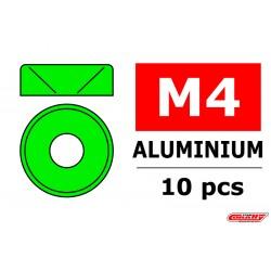 C-3211-30-0 Team Corally - Rondelles aluminium - pour vis M3 à tête bombée - DE 10mm - Or - 10 pcs
