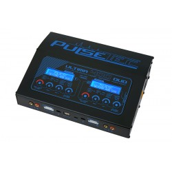 PC-021-002 Pulsetec - Quad Charger - Ultima 400 Duo - AC 100-240V - DC 11-18V - 400W Power - 0.1-20.0A - 1-7 Li-xx - 1-18 Ni-xx
