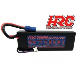 HRC02267E Accu - LiPo 2S - 7.4V 6700mAh 50C - RC Car - Prise Hard Case - EC5 138x45x25mm