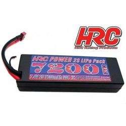 HRC02272D Accu - LiPo 2S - 7.4V 7200mAh 50C - RC Car - Hard Case - Ultra T