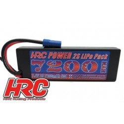 HRC02272E Accu - LiPo 2S - 7.4V 7200mAh 50C - RC Car - Hard Case - EC5
