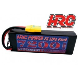 HRC02272X Accu - LiPo 2S - 7.4V 7200mAh 50C - RC Car - Hard Case - XT90AS